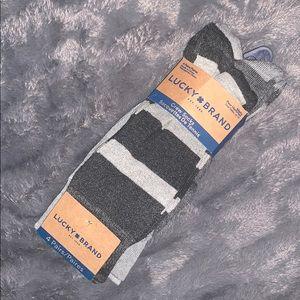 NWT Lucky Brand Crew Socks - Pack of 4